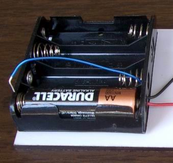 1.5 Volts jumper wire connection